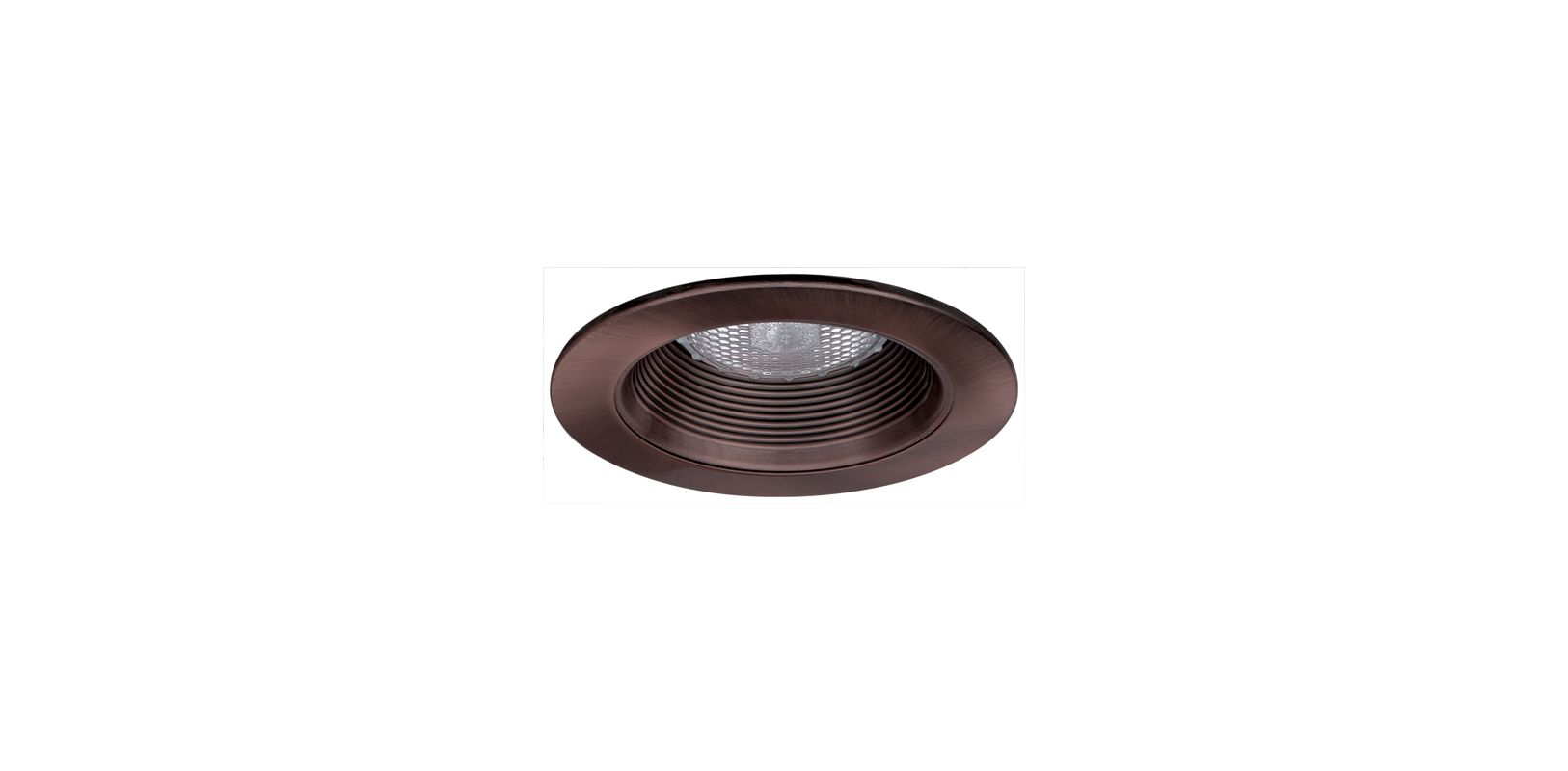 "Elco EL993 4"" Phenolic Baffle with Metal Ring Bronze Recessed Lights"