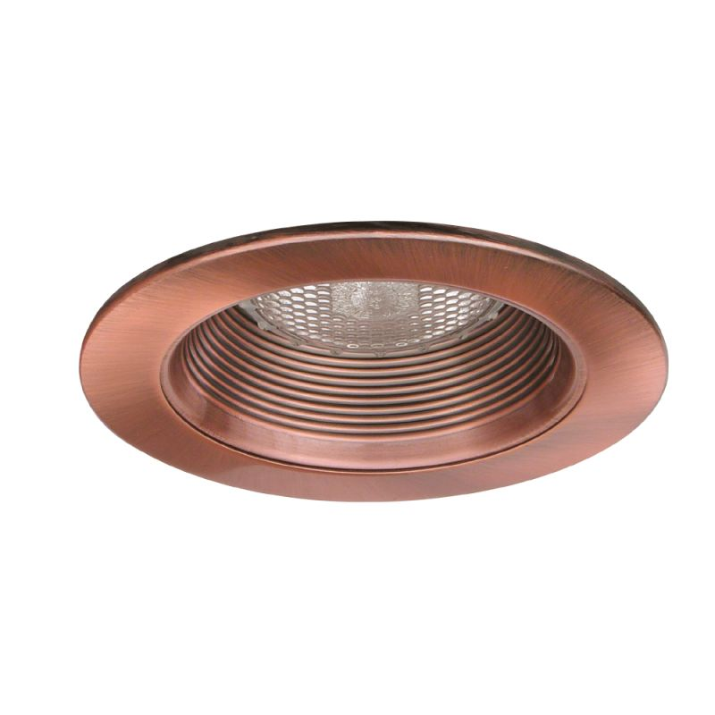 "Elco EL993 4"" Phenolic Baffle with Metal Ring Copper Recessed Lights"