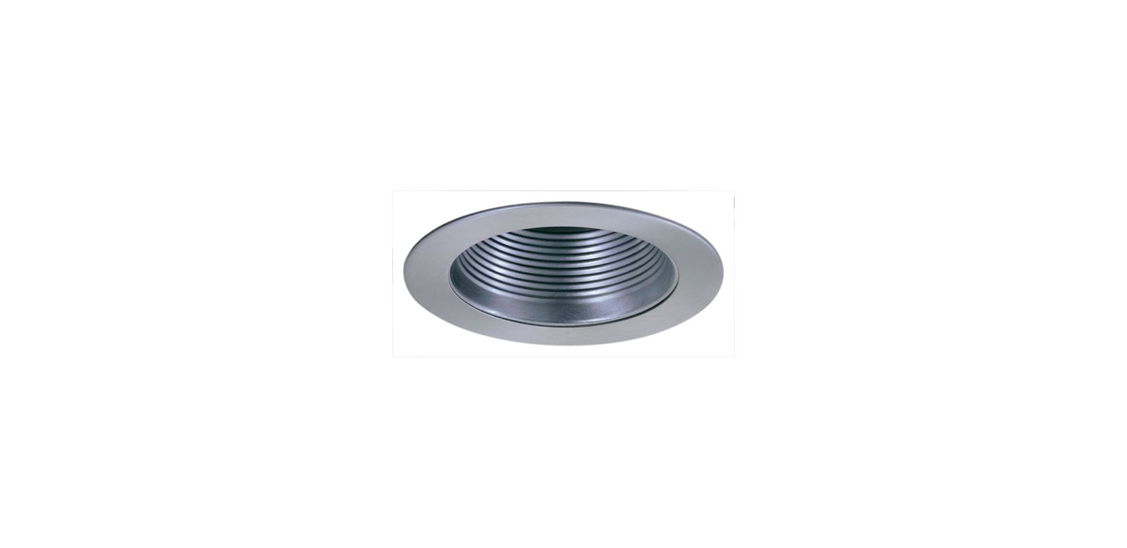 "Elco EL993 4"" Phenolic Baffle with Metal Ring Nickel Recessed Lights"