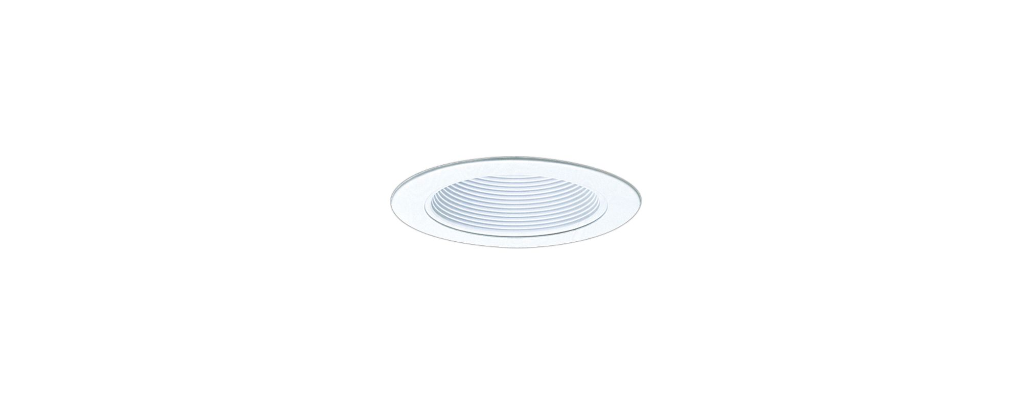 "Elco EL993 4"" Phenolic Baffle with Metal Ring White Recessed Lights"