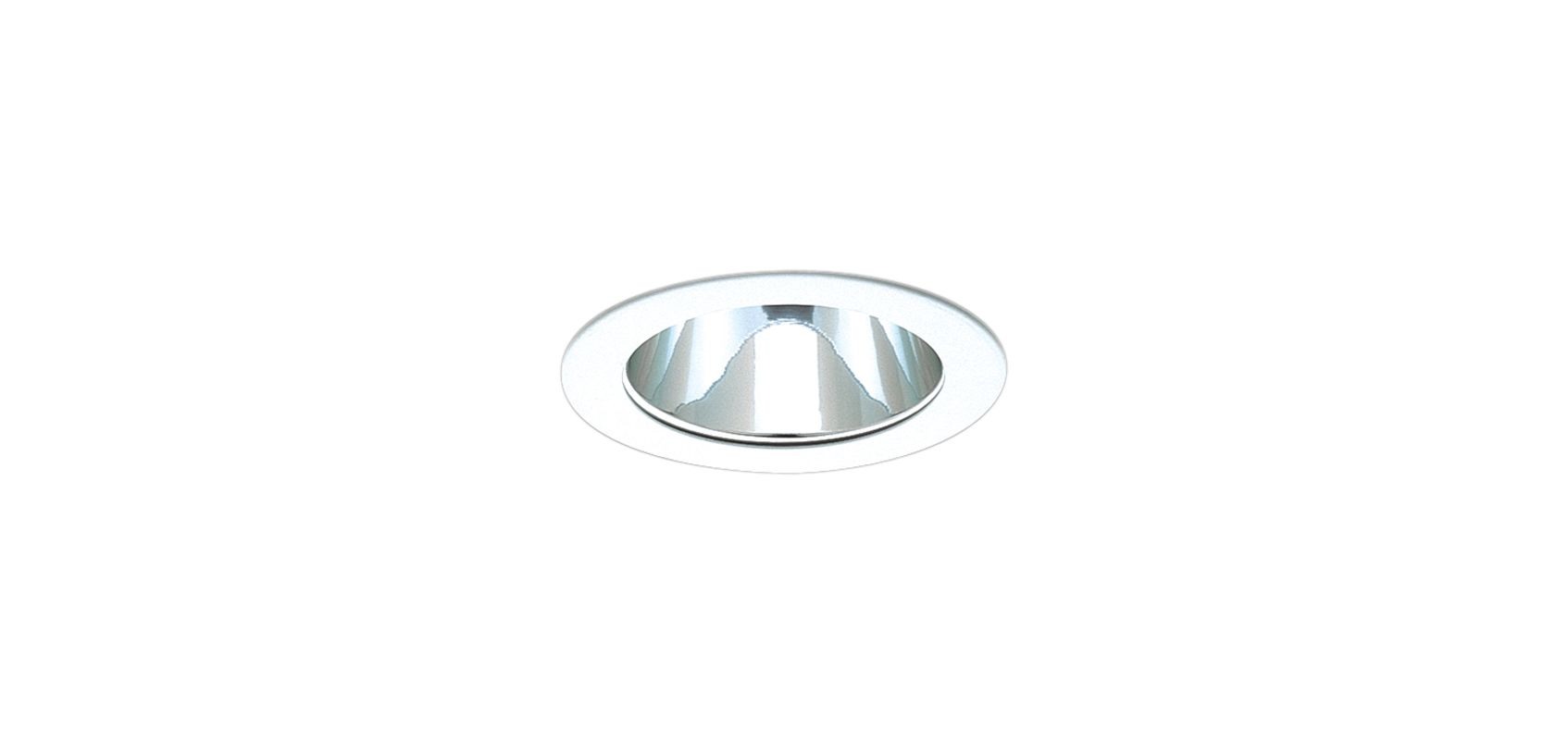 "Elco EL999 4"" Reflector Trim Clear Reflector with White Ring Recessed"