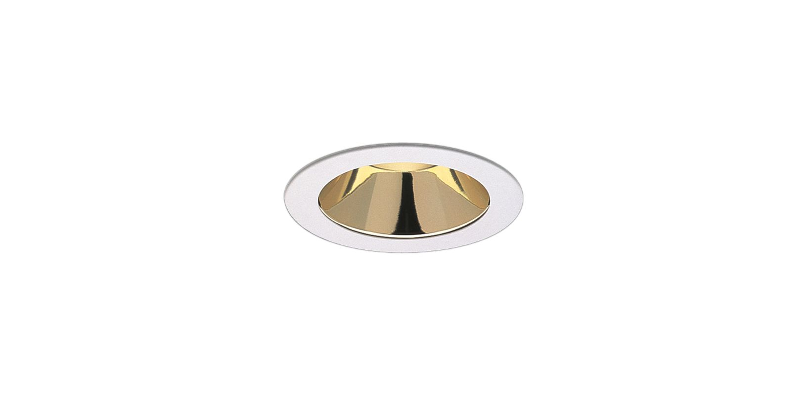 "Elco EL999 4"" Reflector Trim Gold Reflector with White Ring Recessed"