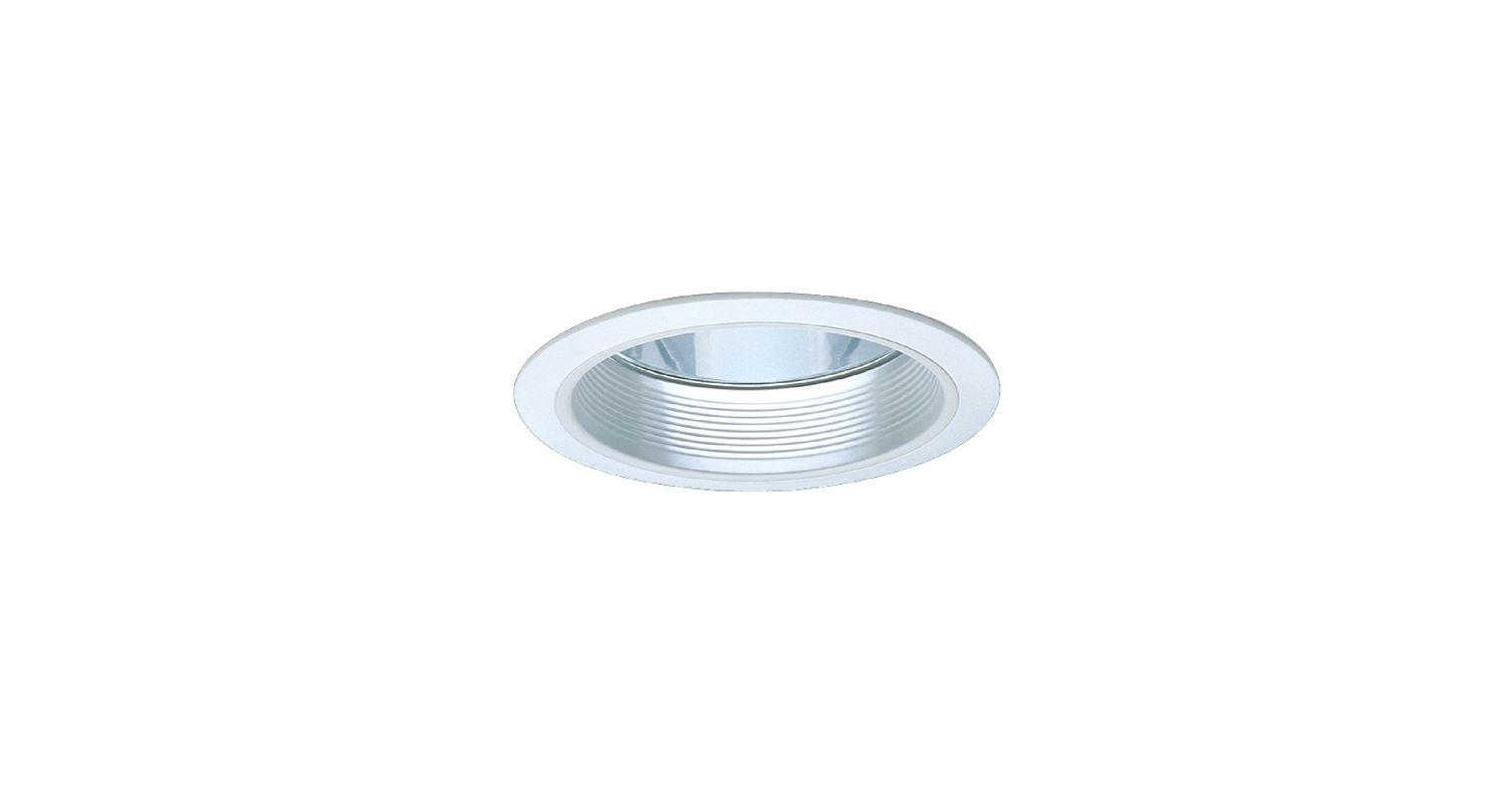 "Elco ELA101 6"" CFL Clear Reflector with Baffle White Baffle with White"
