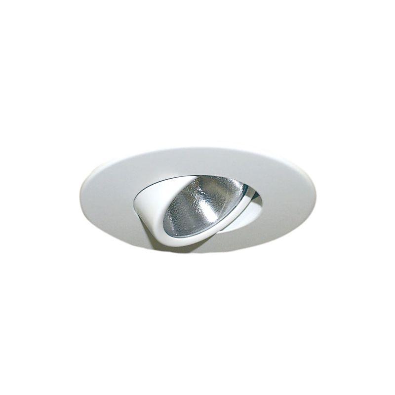 "Elco EL985 4"" Adjustable Gimbal Ring White Recessed Lights Adjustable"