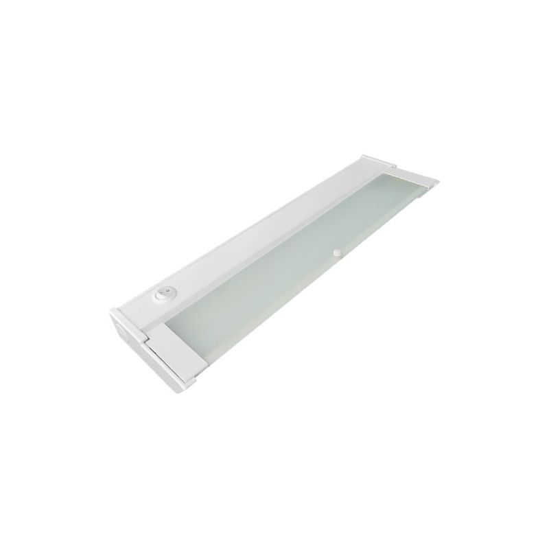 elco eum31w white 8 wide dimmable led under cabinet light with driver. Black Bedroom Furniture Sets. Home Design Ideas