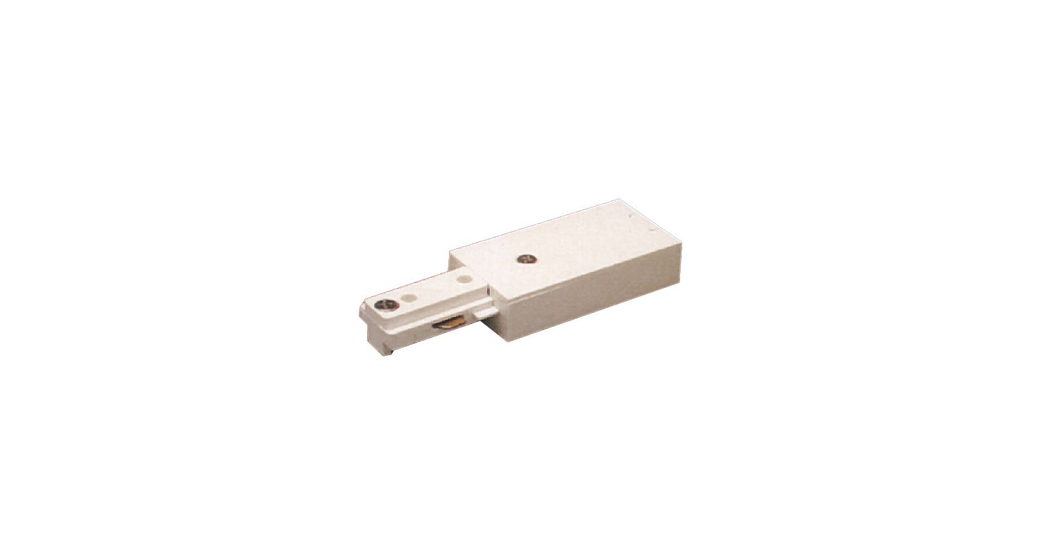 Elco EC801 Live End Connector for 2 Circuit Track White Indoor