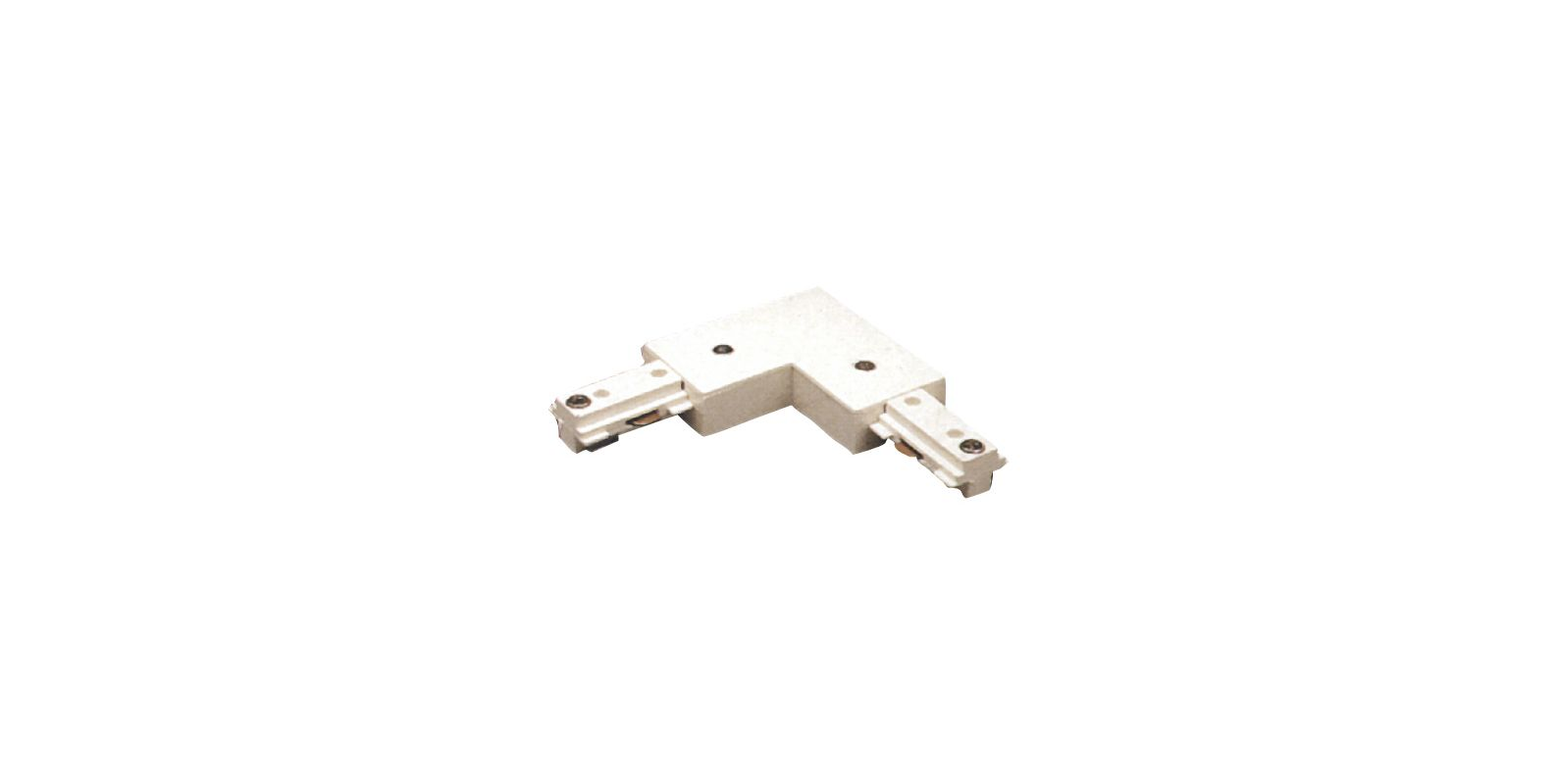 Elco EC804 L Connector for 2 Circuit Track White Indoor Lighting