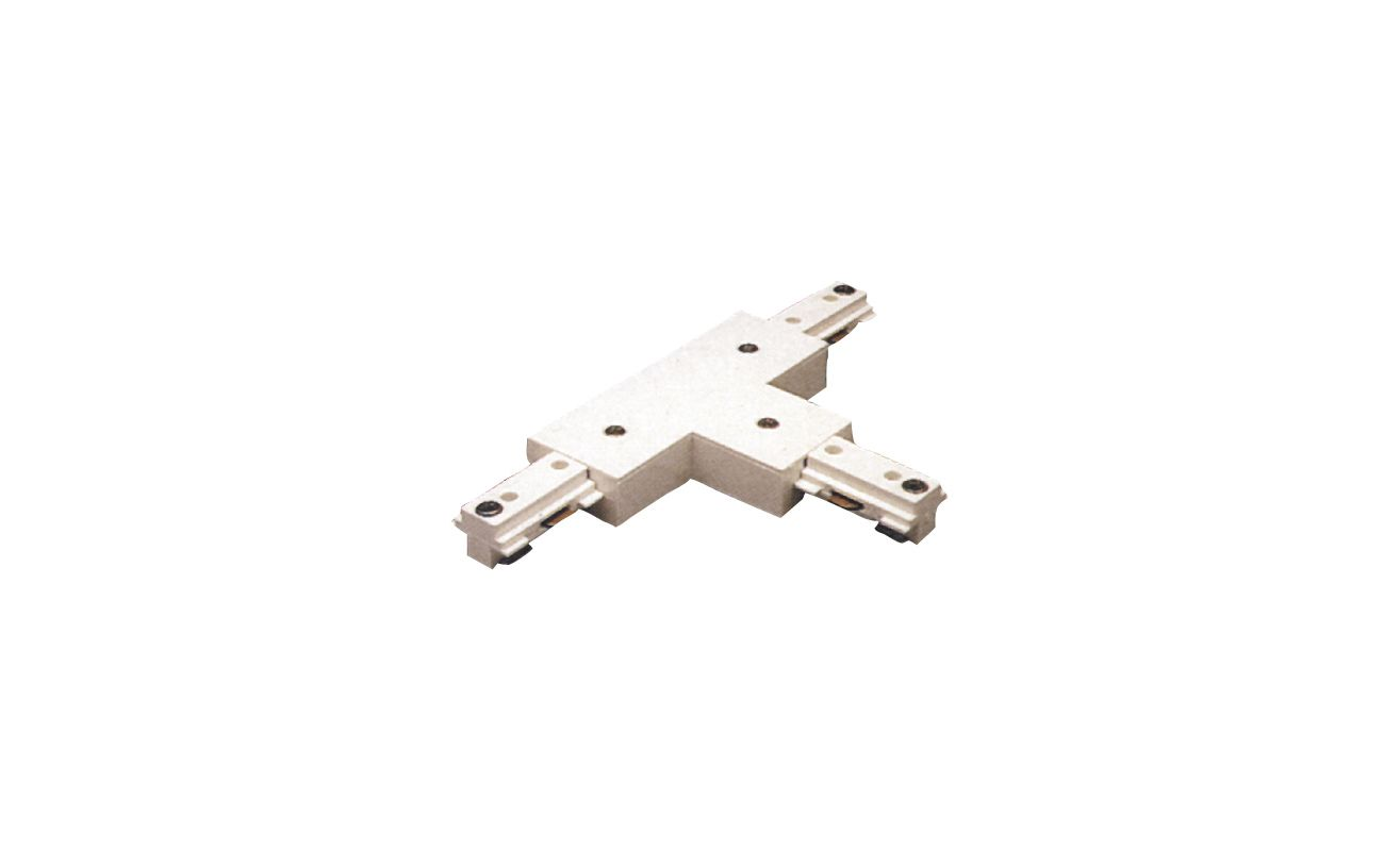 Elco EC805 T Connector for 2 Circuit Track White Indoor Lighting