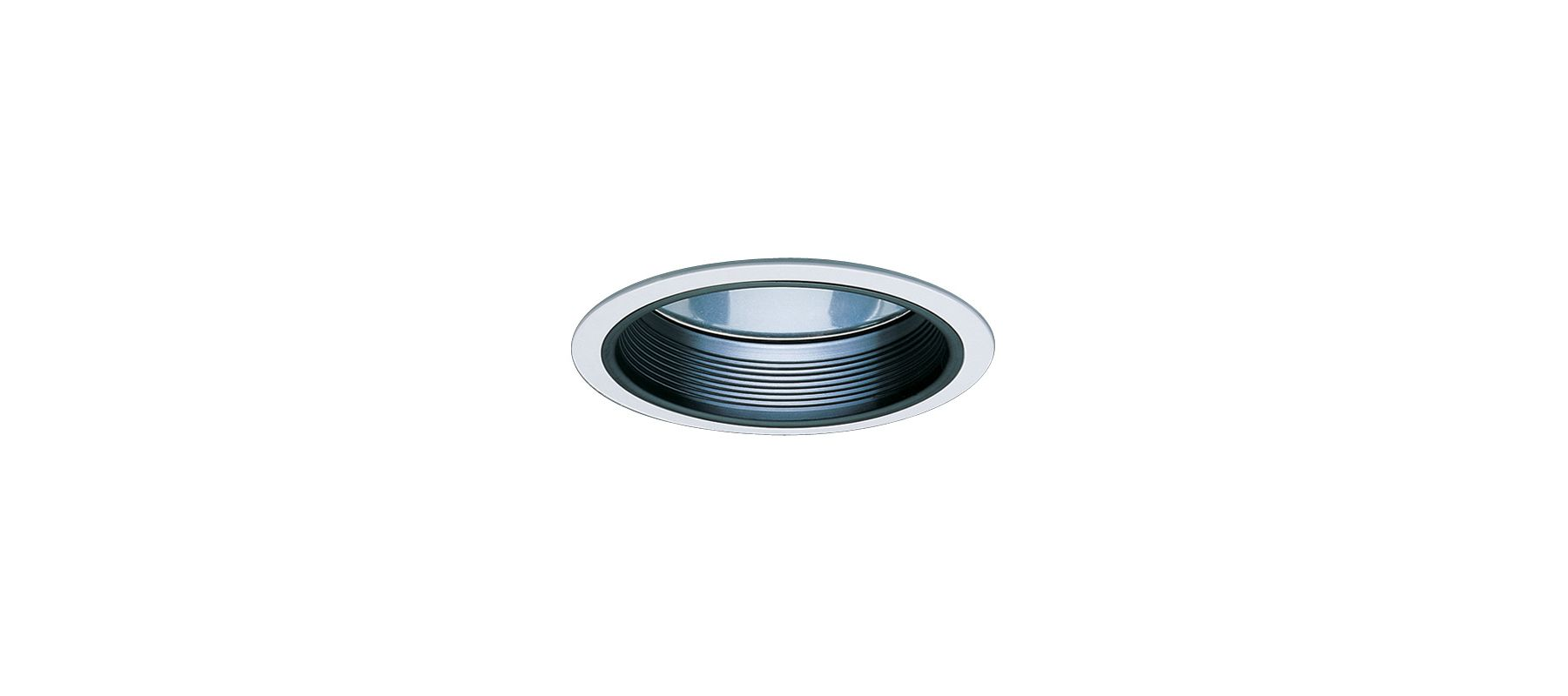 """Elco ELA102 6"""" CFL Baffle with Reflector Black / White Recessed Lights"""