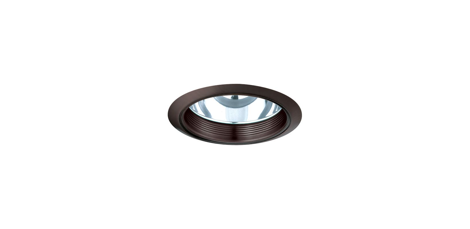 "Elco ELA102 6"" CFL Baffle with Reflector Bronze Recessed Lights Baffle"