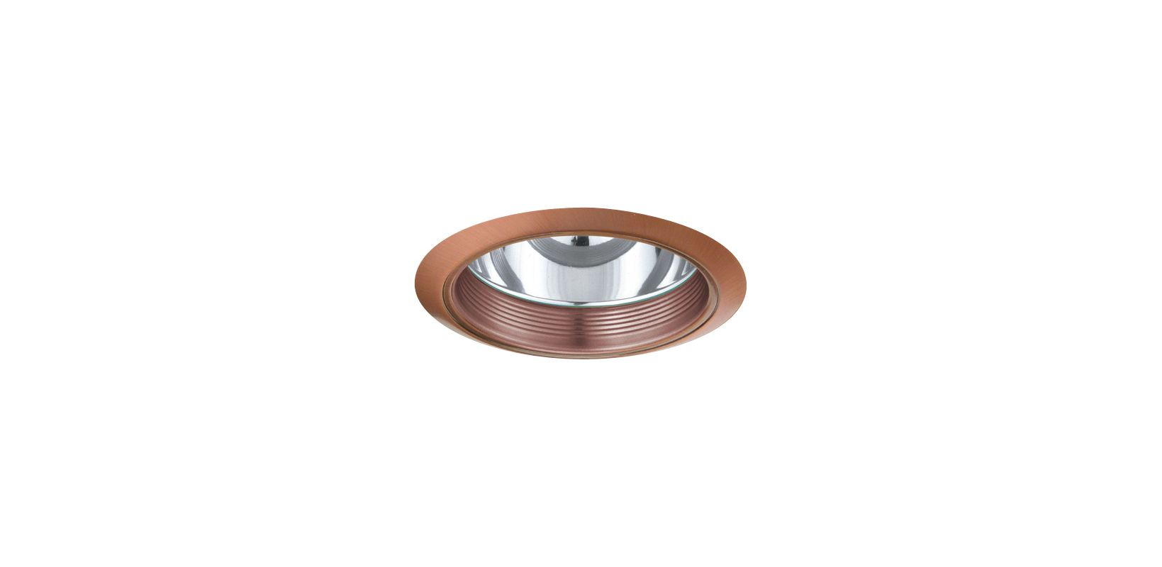 "Elco ELA102 6"" CFL Baffle with Reflector Copper Recessed Lights Baffle"