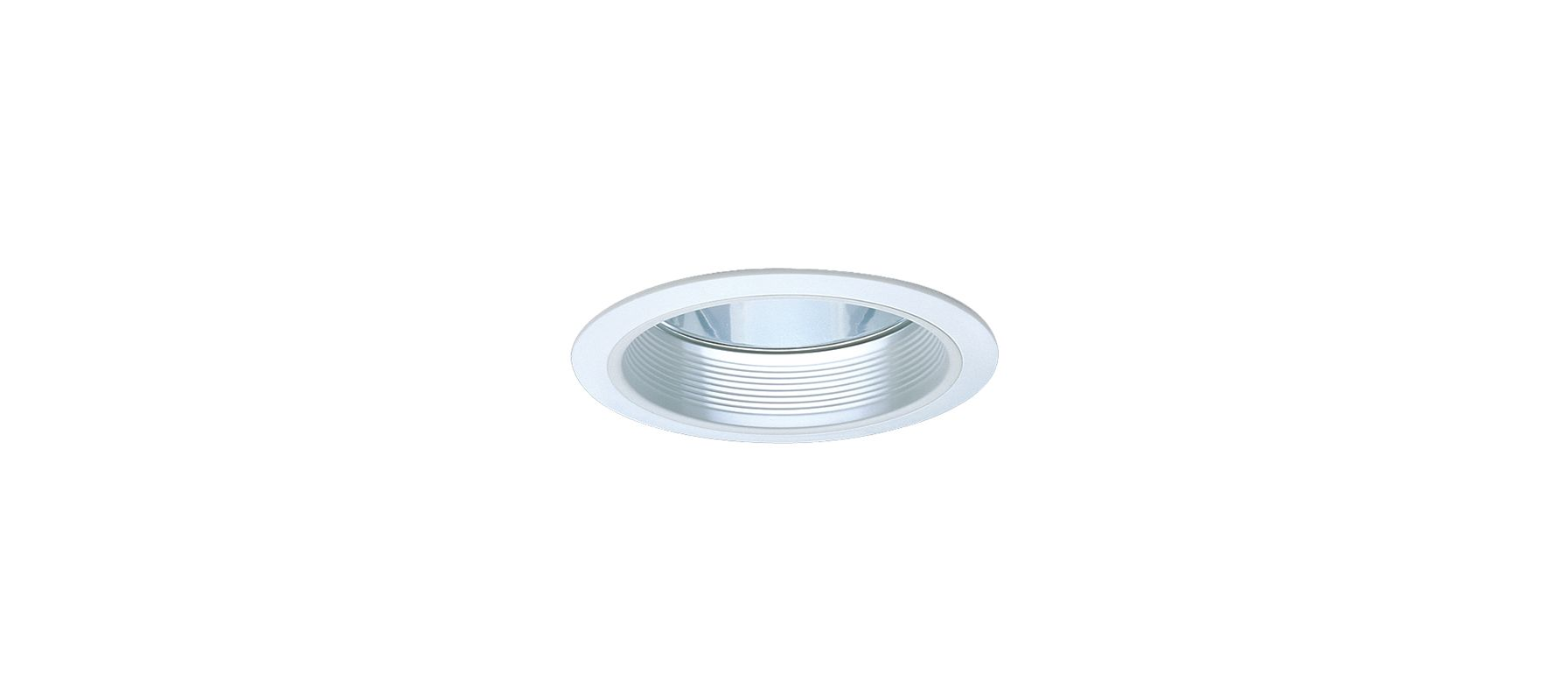 "Elco ELA102 6"" CFL Baffle with Reflector White Recessed Lights Baffle"