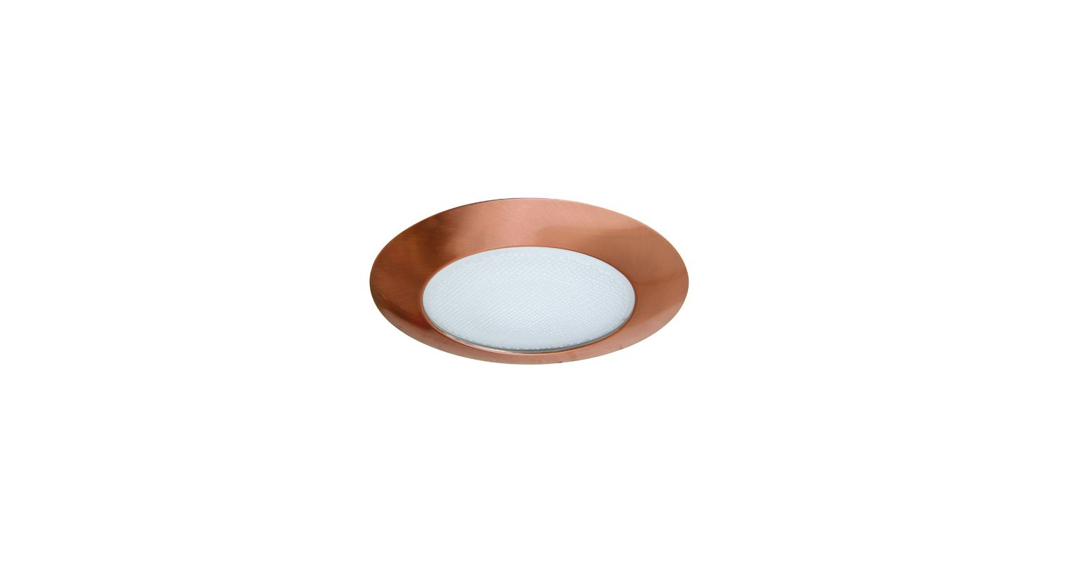 "Elco EL112 6"" CFL IC Shower Trim with Reflector and Frosted Lens"