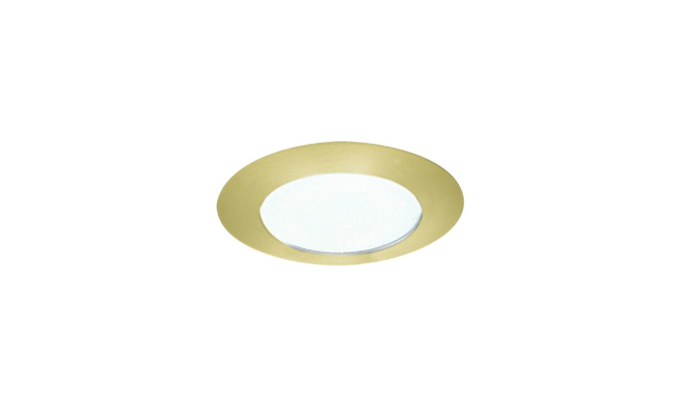 "Elco EL112 6"" CFL IC Shower Trim with Reflector and Frosted Lens Gold"