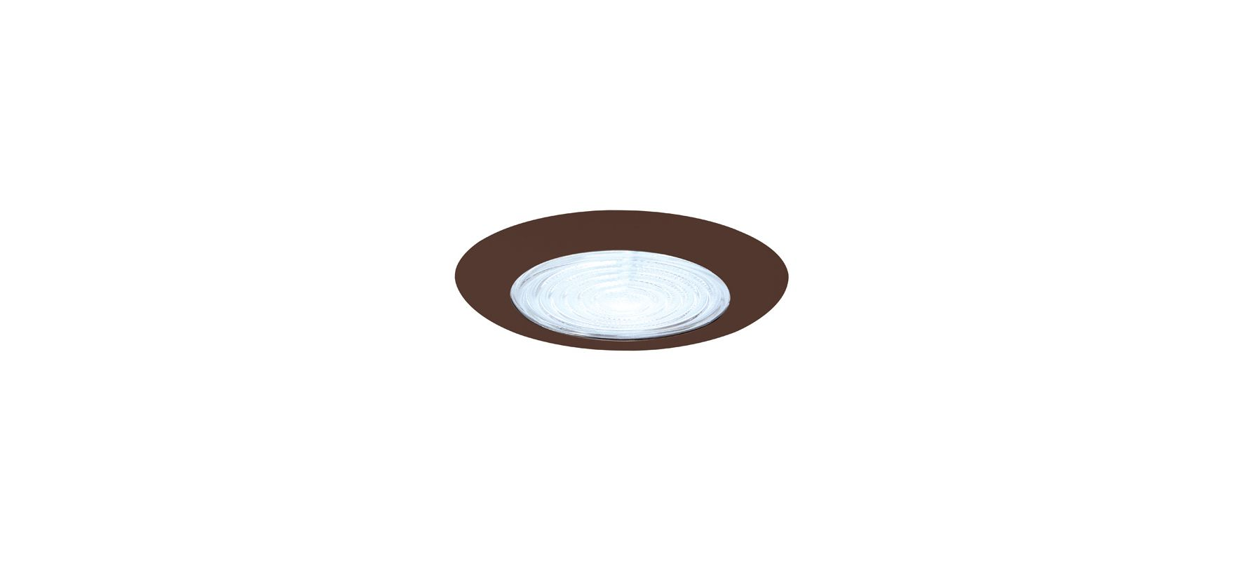 "Elco EL113 6"" Shower Trim with Fresnel Lens and Reflector Bronze"