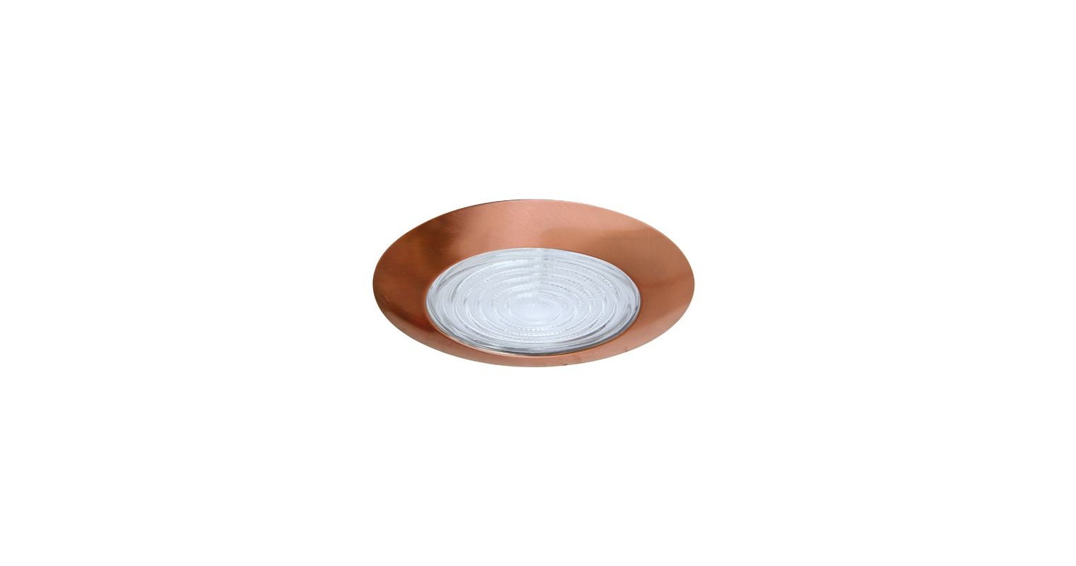 "Elco EL113 6"" Shower Trim with Fresnel Lens and Reflector Copper"