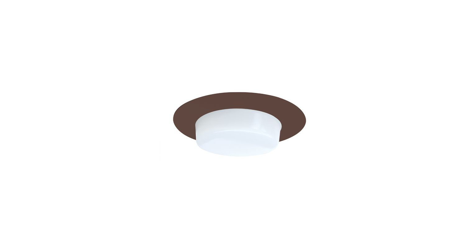 "Elco EL116 6"" Shower Trim with Drop Opal Lens and Reflector Bronze"
