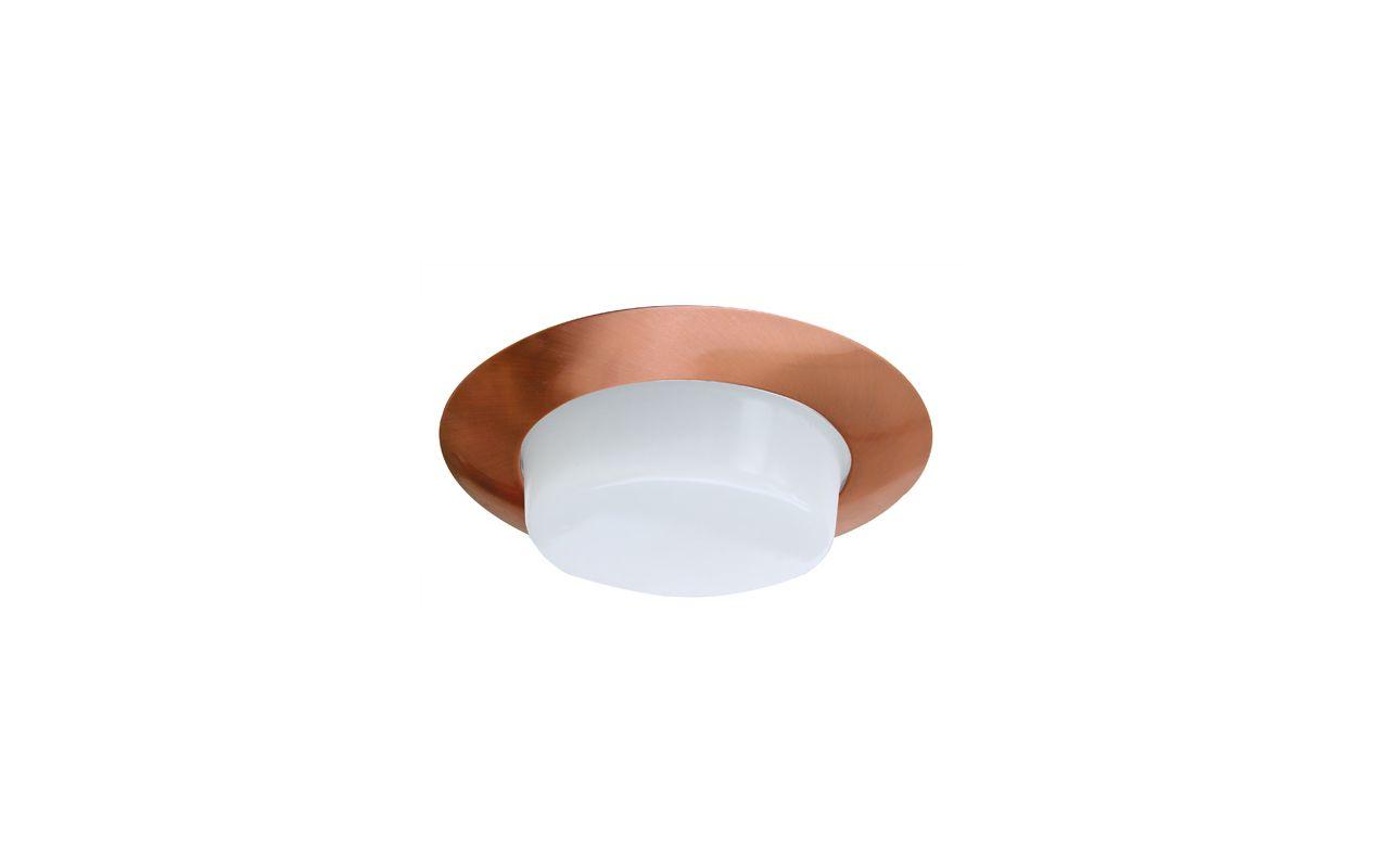 "Elco EL116 6"" Shower Trim with Drop Opal Lens and Reflector Copper"