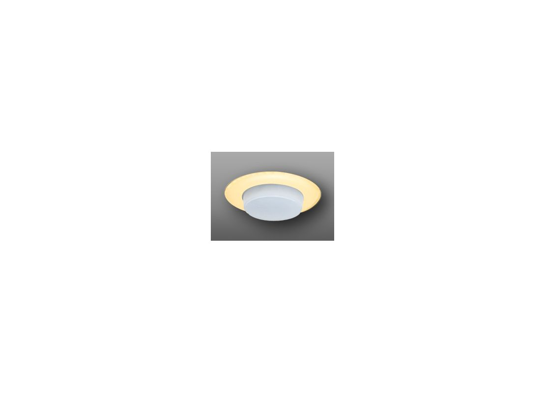 """Elco EL116 6"""" Shower Trim with Drop Opal Lens and Reflector Gold"""