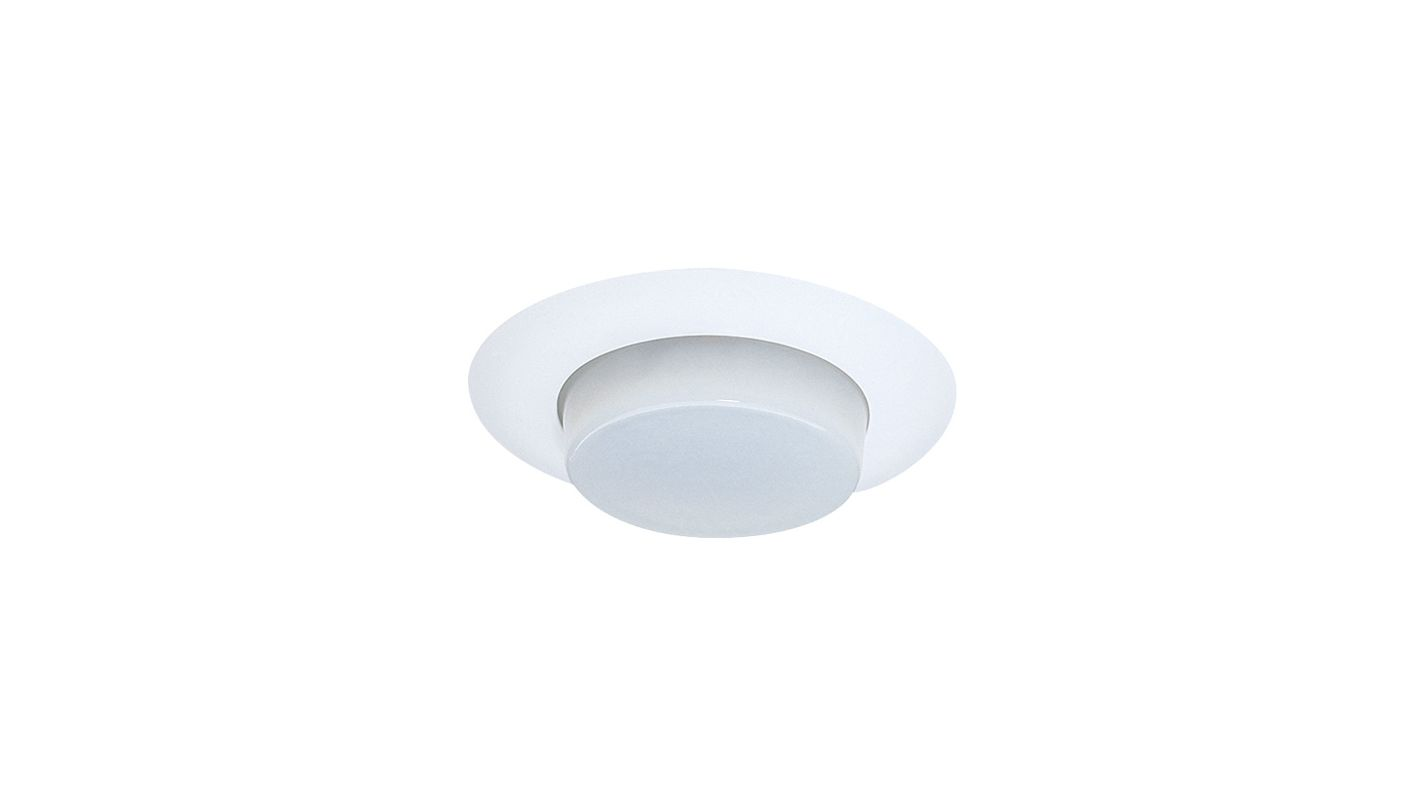 "Elco EL116 6"" Shower Trim with Drop Opal Lens and Reflector White"