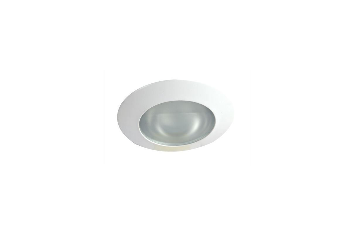 """Elco EL122SH 6"""" White Lexan Shower Trim with Smooth Frosted Lens and"""
