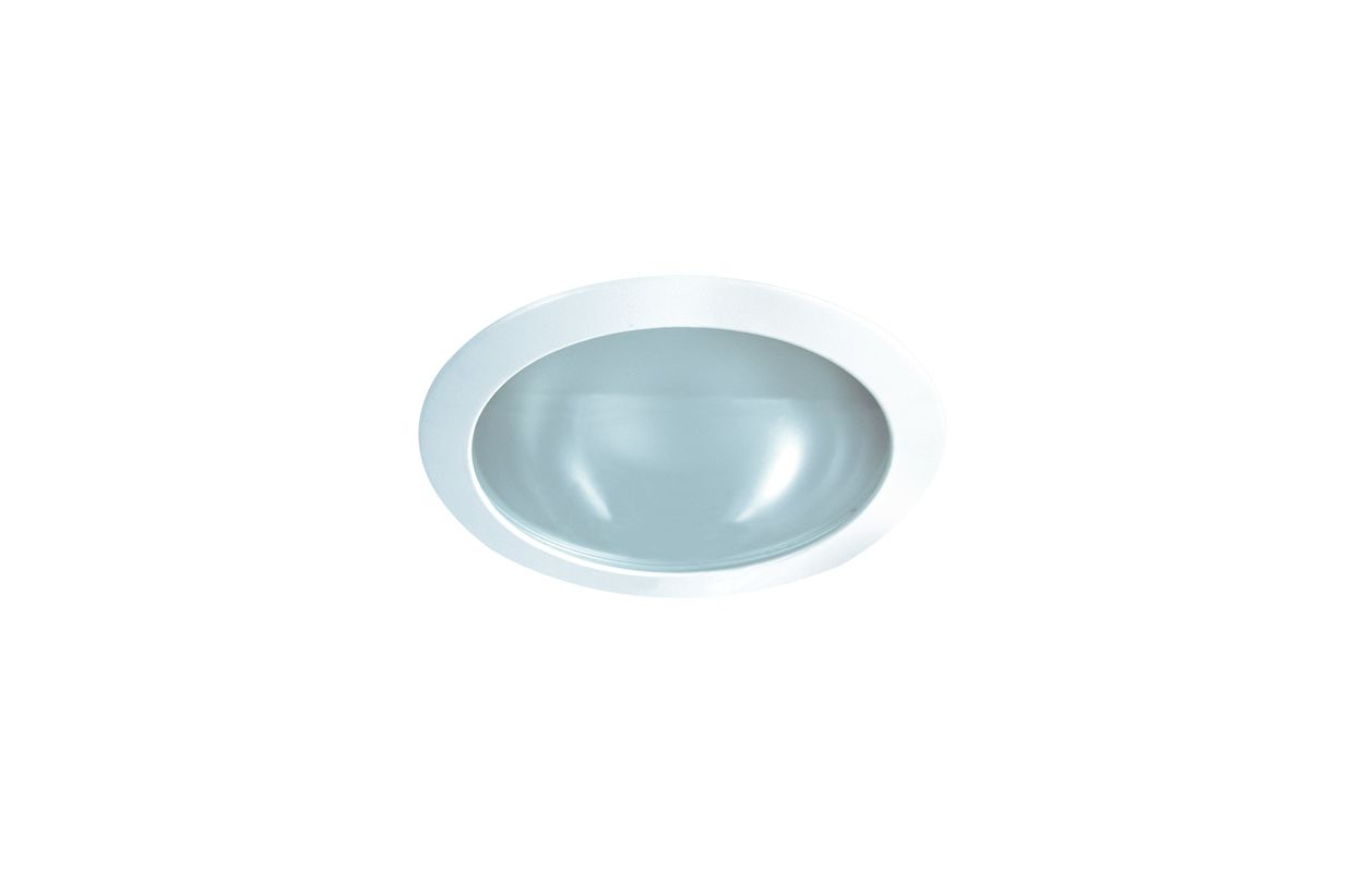 "Elco EL123W 6"" Shower Trim with Frosted Lens and Reflector Narrow"