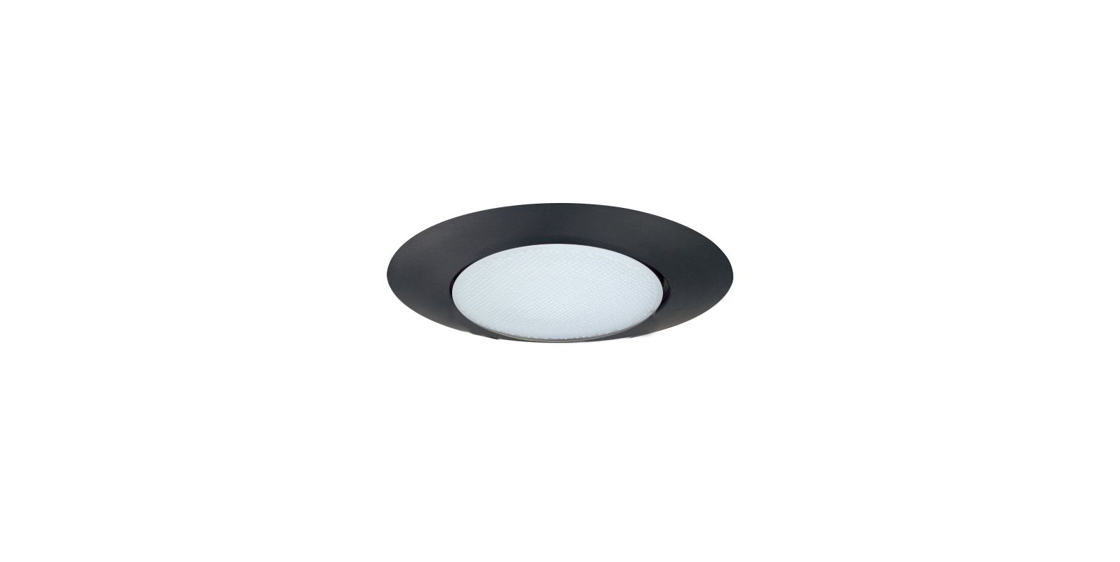 "Elco EL12 6"" Shower Trim with Albalite Lens Black Recessed Lights"