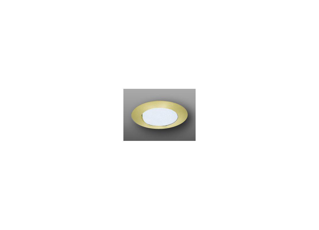 "Elco EL12 6"" Shower Trim with Albalite Lens Gold Recessed Lights"
