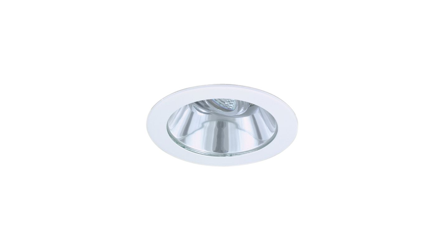 "Elco EL1411SH 4"" White Lexan Low-Voltage Adjustable Shower Trim with"