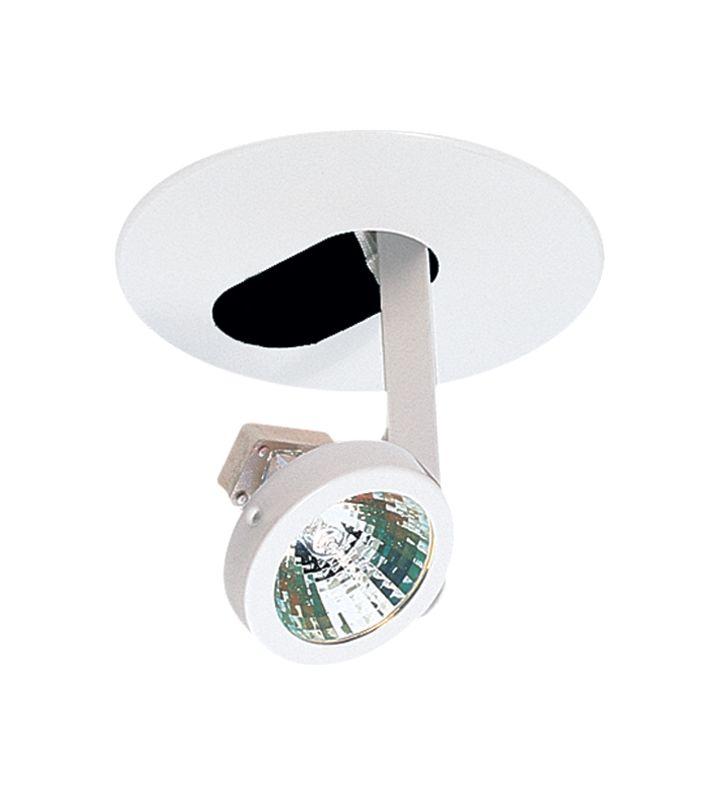 "Elco EL1418W 4"" Low-Voltage Drop Adjustable Gimbal Ring White Recessed"