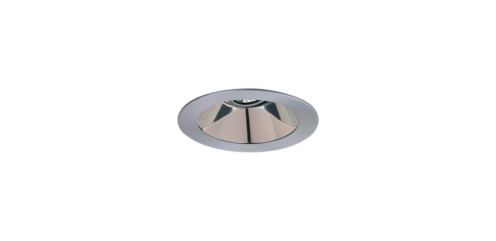 """Elco EL1421 4"""" Low-Voltage Adjustable Reflector Clear / Nickel"""