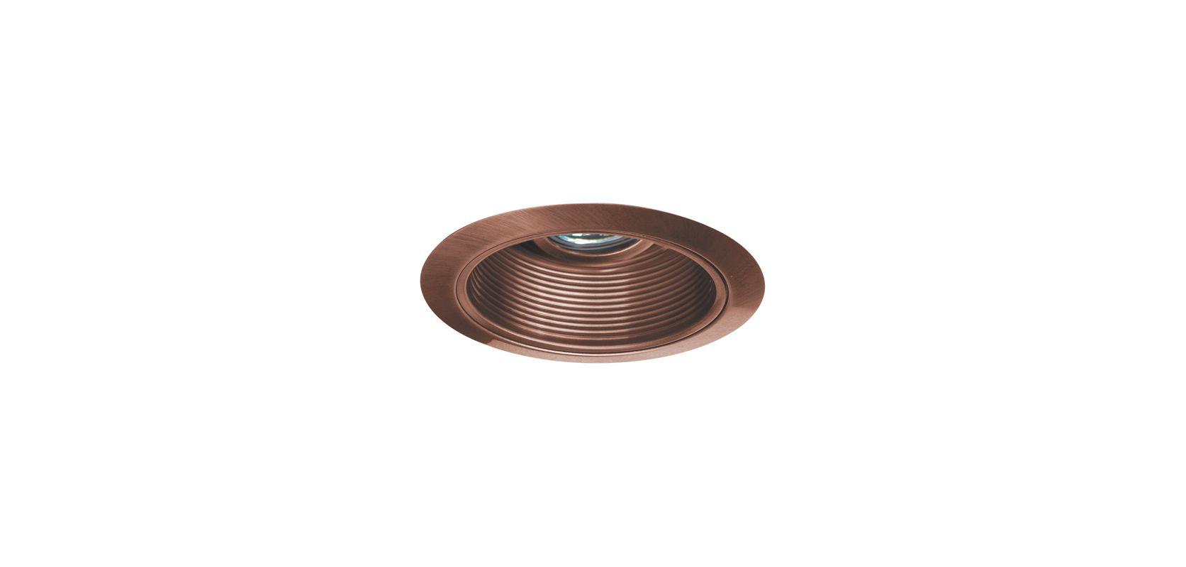 """Elco EL1424 4"""" Low-Voltage Adjustable Wall Wash with Baffle Copper"""