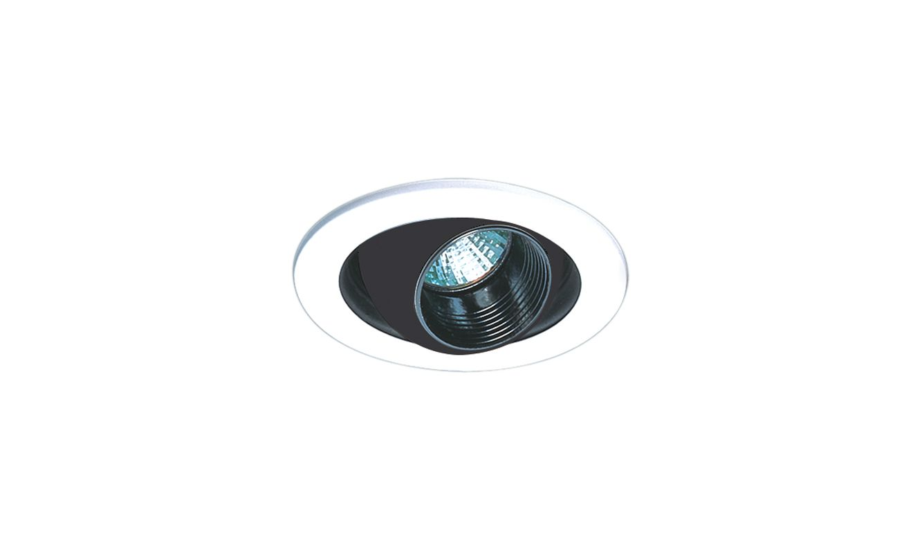 "Elco EL1448 4"" Low-Voltage Adjustable Regressed Eyeball Trim Black /"
