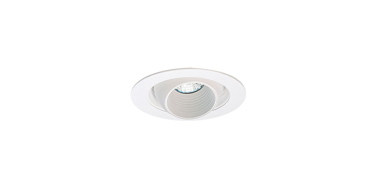 "Elco EL1448 4"" Low-Voltage Adjustable Regressed Eyeball Trim White"