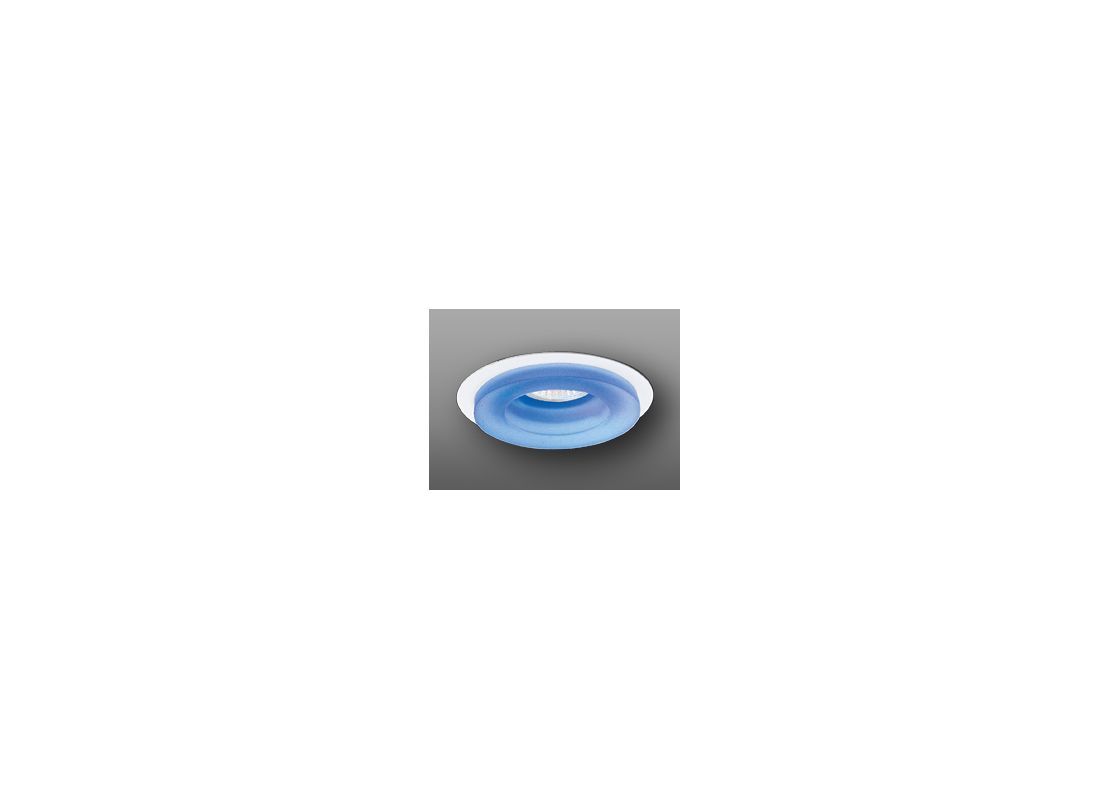 "Elco EL1452 4"" Low-Voltage Adjustable Frosted Glass Trim Blue Recessed"