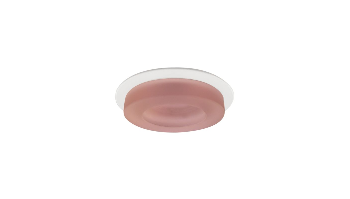 "Elco EL1452 4"" Low-Voltage Adjustable Frosted Glass Trim Pink Recessed"
