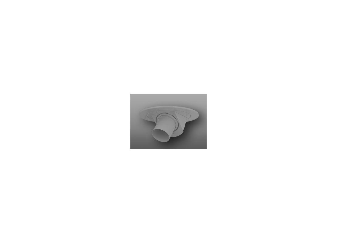 """Elco EL1487 4"""" Low-Voltage Adjustable Pull-Down Trim with Snoot Nickel"""