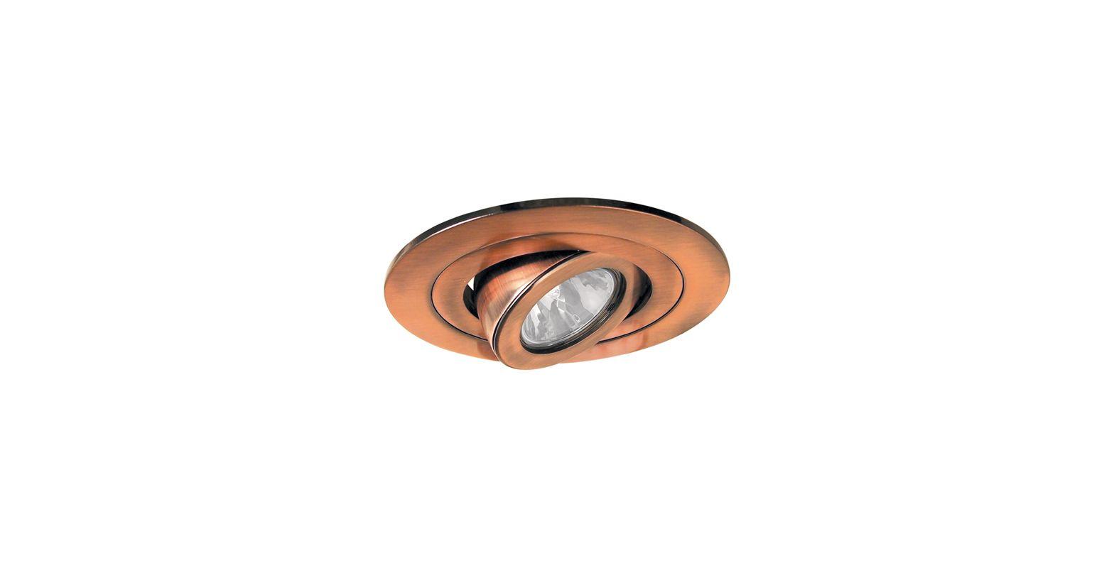 "Elco EL1488 4"" Low Voltage Adjustable Spot Trim Copper Recessed Lights"