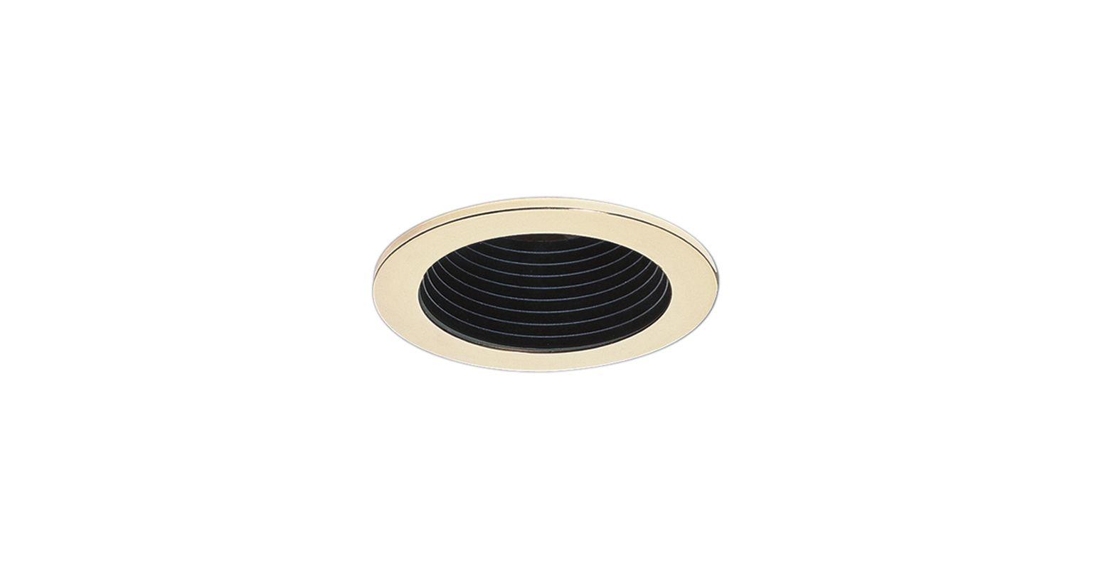 """Elco EL1494 4"""" Low-Voltage Adjustable Deep Baffle Black / Gold"""