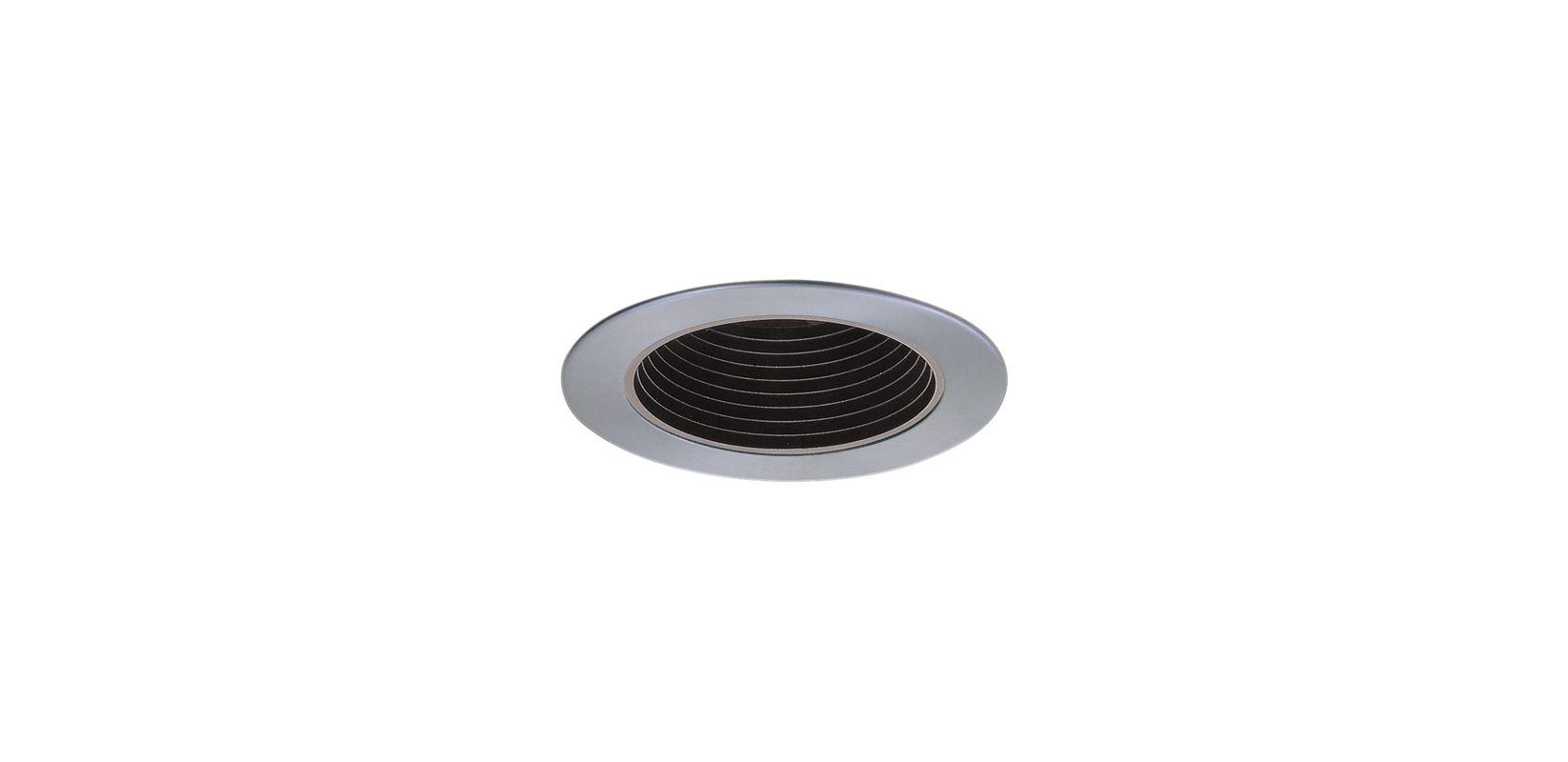 """Elco EL1494 4"""" Low-Voltage Adjustable Deep Baffle Black / Nickel"""