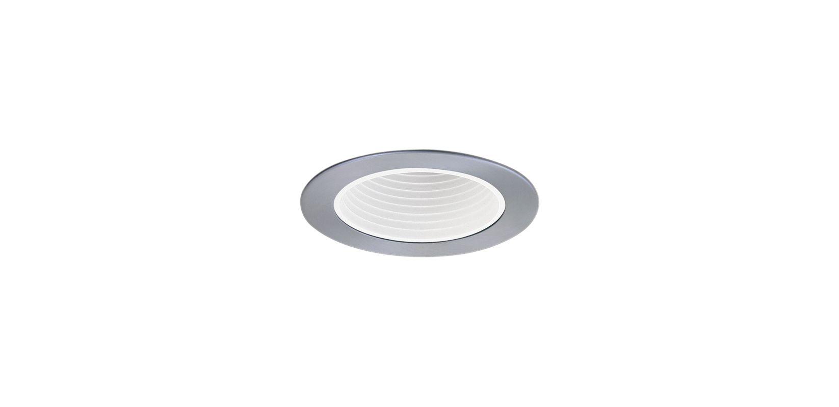 """Elco EL1494 4"""" Low-Voltage Adjustable Deep Baffle White / Nickel"""