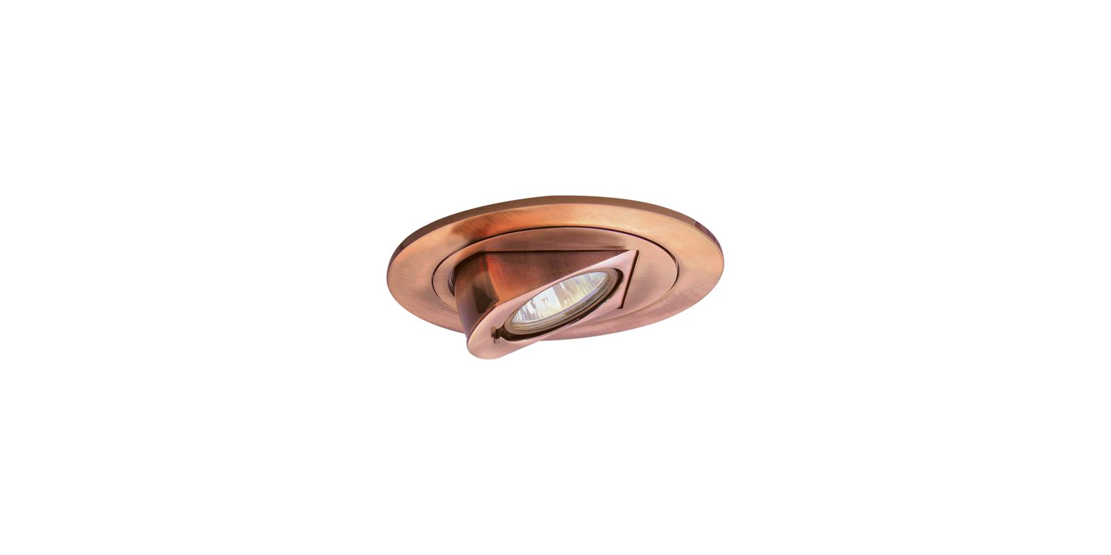"Elco EL1497 4"" Low Voltage Adjustable Pull Down Trim Copper Recessed"