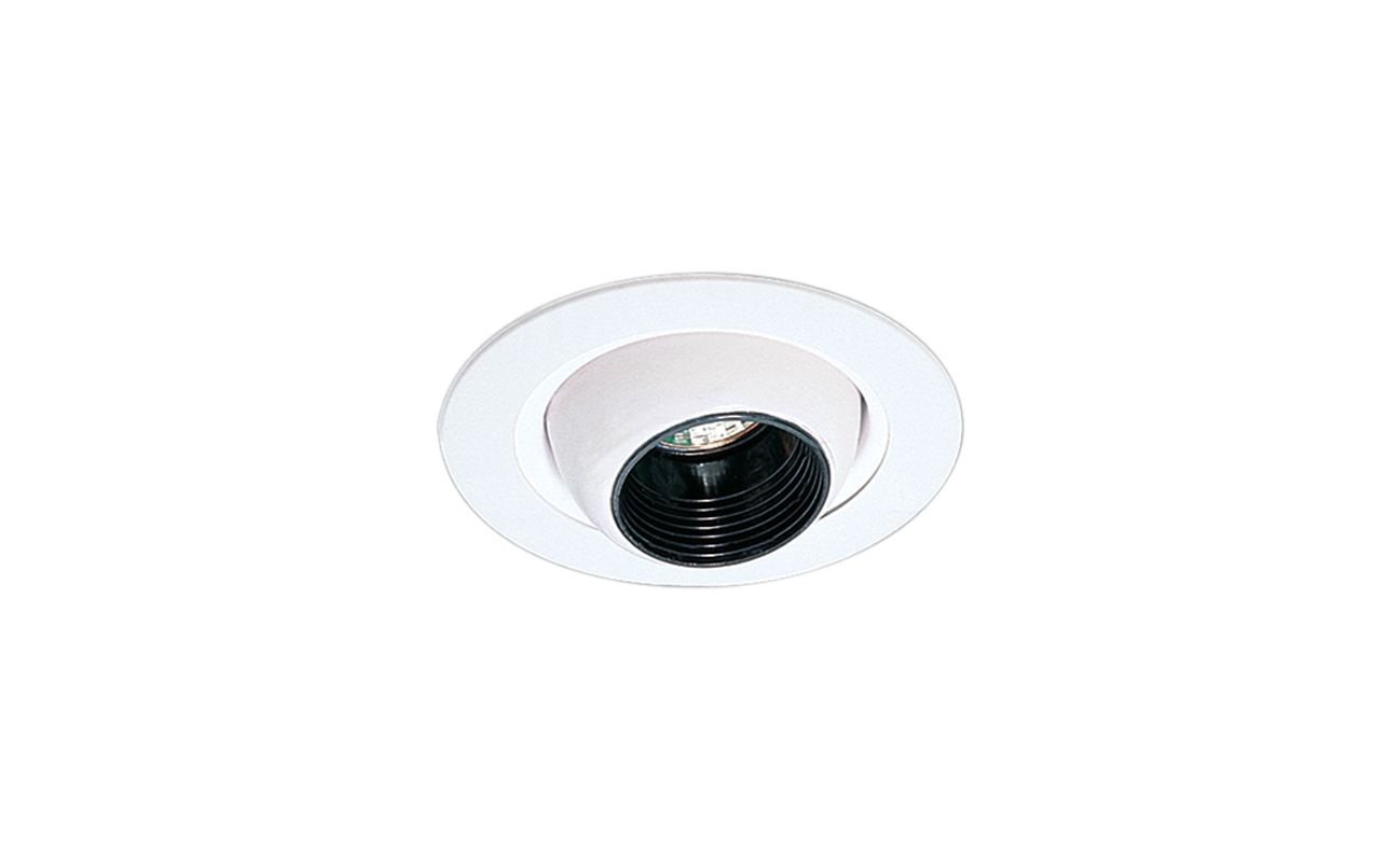 "Elco EL1498 4"" Low-Voltage Adjustable Eyeball Trim Black / White"