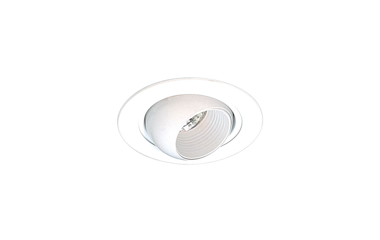 "Elco EL1498 4"" Low-Voltage Adjustable Eyeball Trim White Recessed"