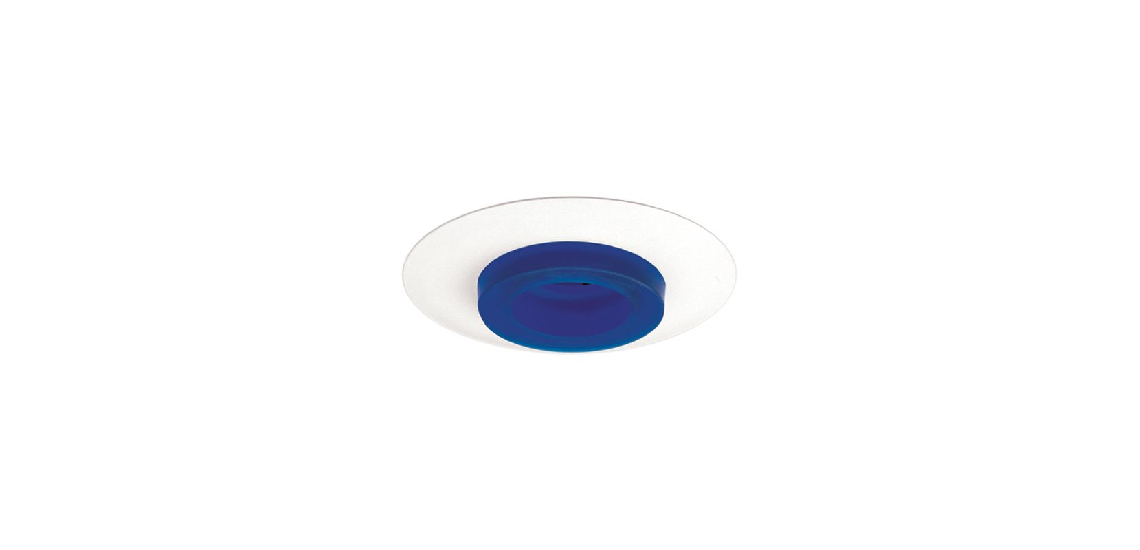 "Elco EL1552 6"" 50W Low-Voltage Retrofit Trim with Frosted Glass Blue"