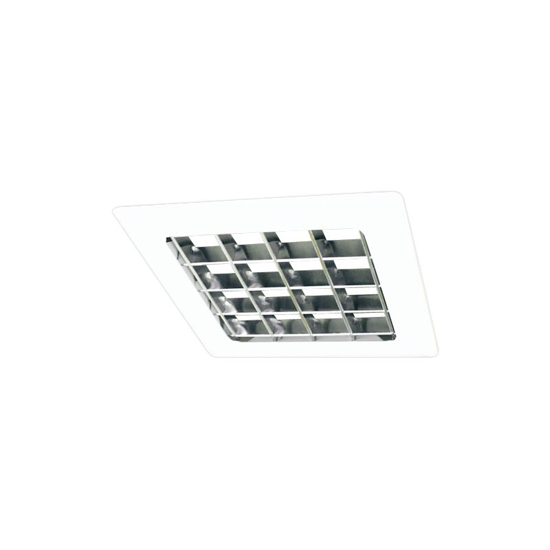 "Elco EL15W 8"" Square Louvered Trim White Recessed Lights Square Trims"