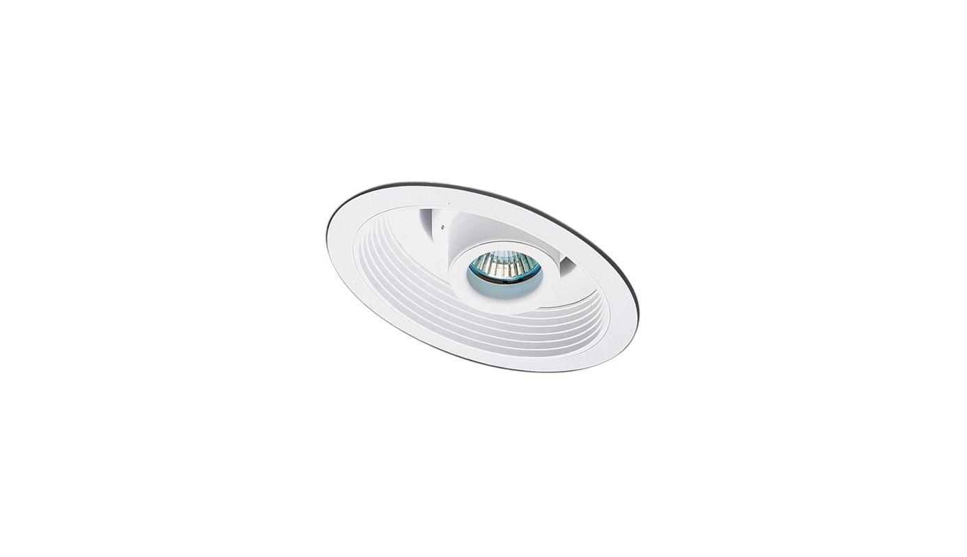"""Elco EL1612 6"""" 50W Low-Voltage Retrofit Trim with Adjustable Spot and"""