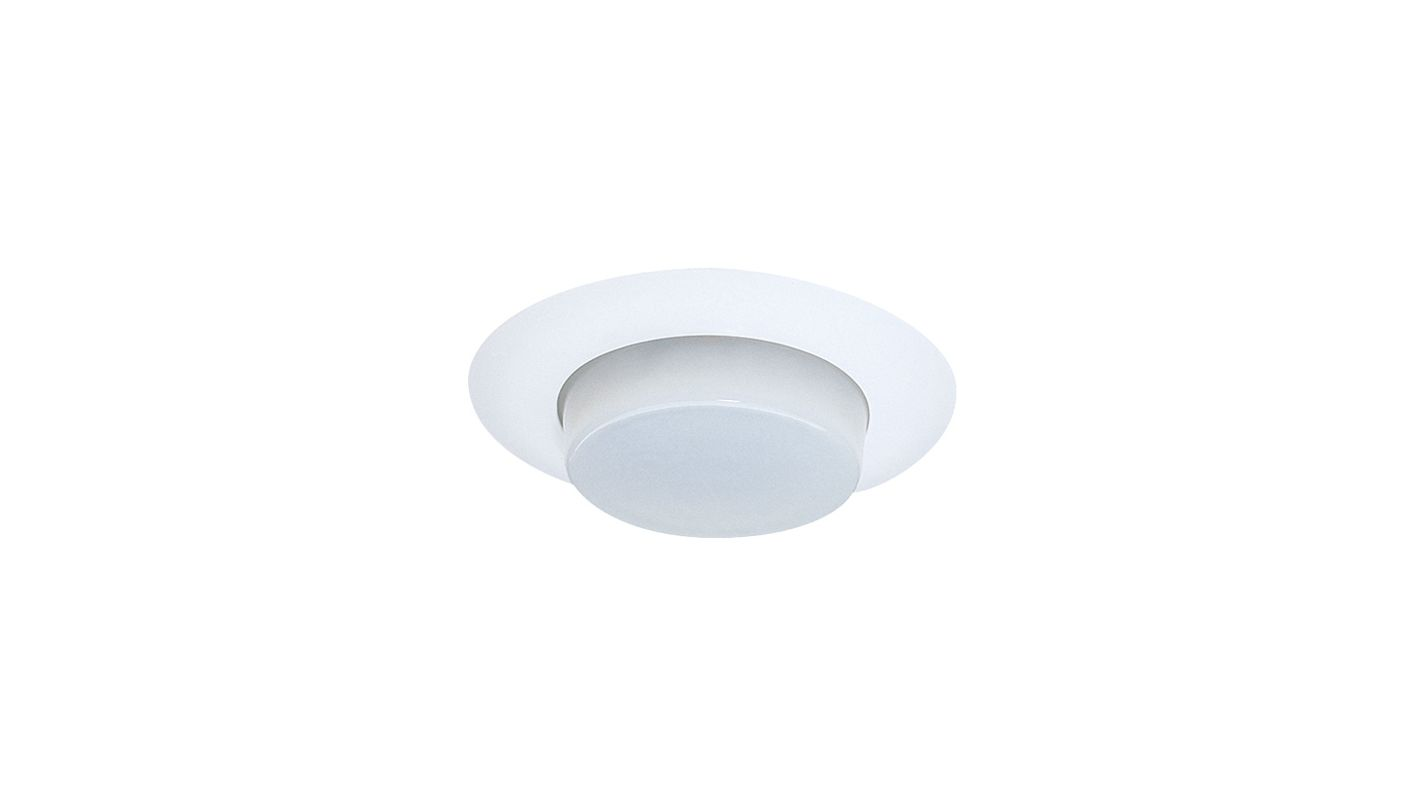 "Elco EL16KSH 6"" White Lexan Shower Trim with Drop Opal Lens and"