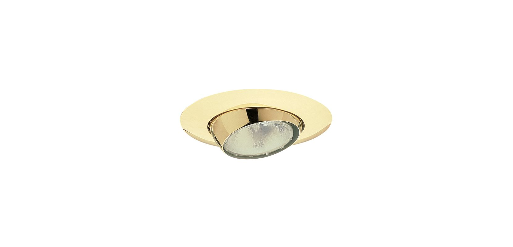 "Elco EL18 6"" Eyeball Trim for 75W Bulbs Gold Recessed Lights"
