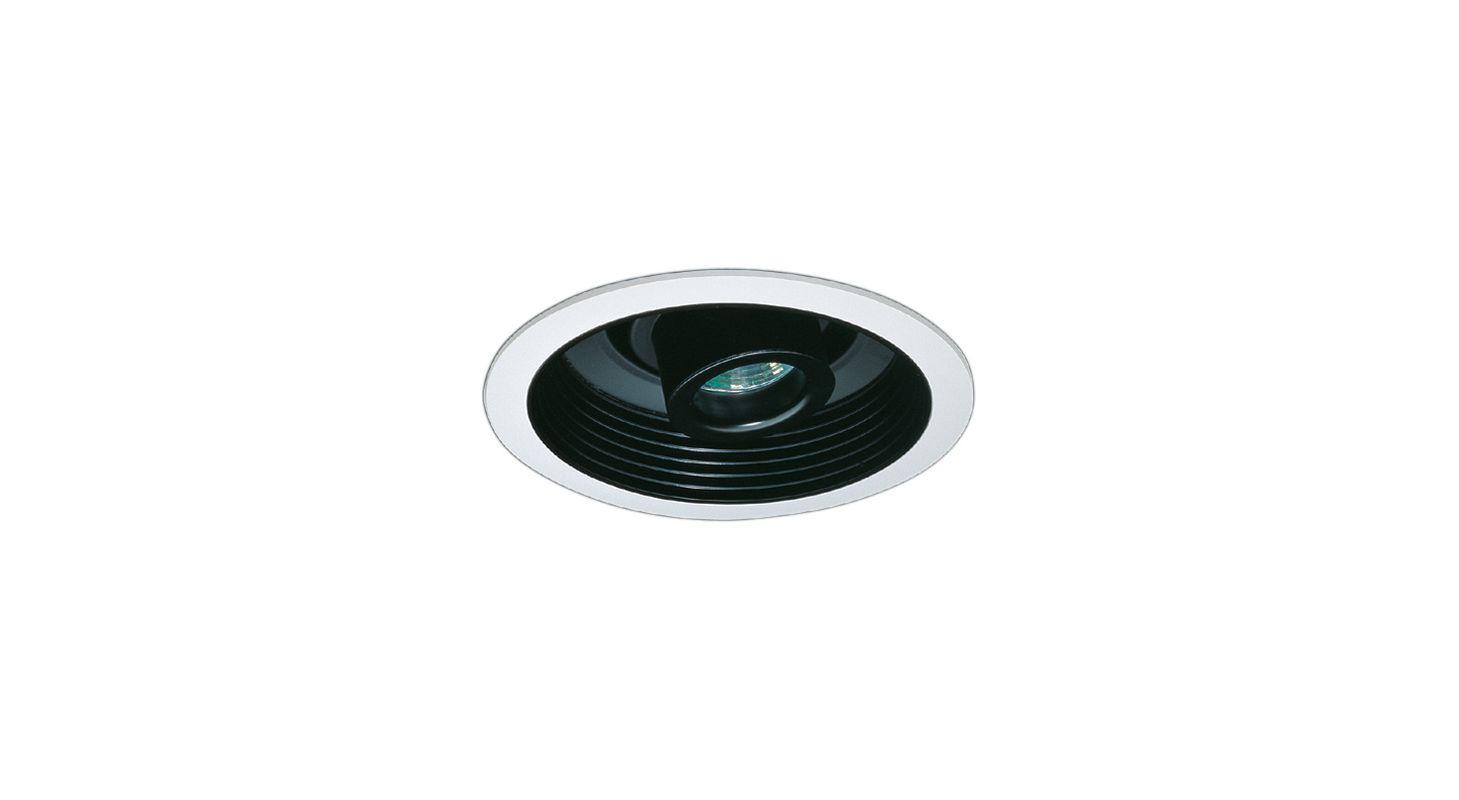 """Elco EL2510 6"""" Low-Voltage Baffle with Adjustable Spot Black Recessed"""